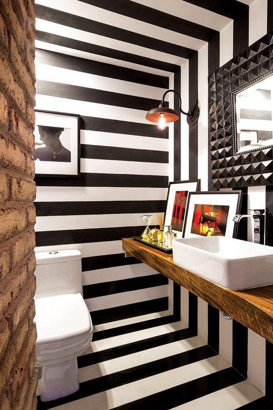 Toto výrazné řešení je vhodné do interiérů, které využíváte přechodně (chaty, letní sídla apod.)