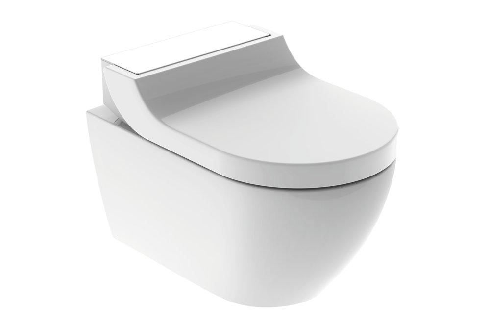 Toaleta Aquaclean Tuma s integrovanou sprškou je vhodná i do malých koupelen.