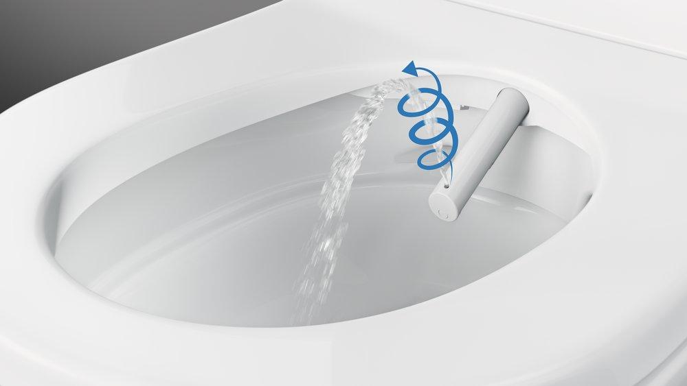 Jemná, osvěžující sprcha. Patentovaná technologie sprchování WhirlSpray poskytuje jemnou a osvěžující očistu a zároveň má nízkou spotřebu vody.