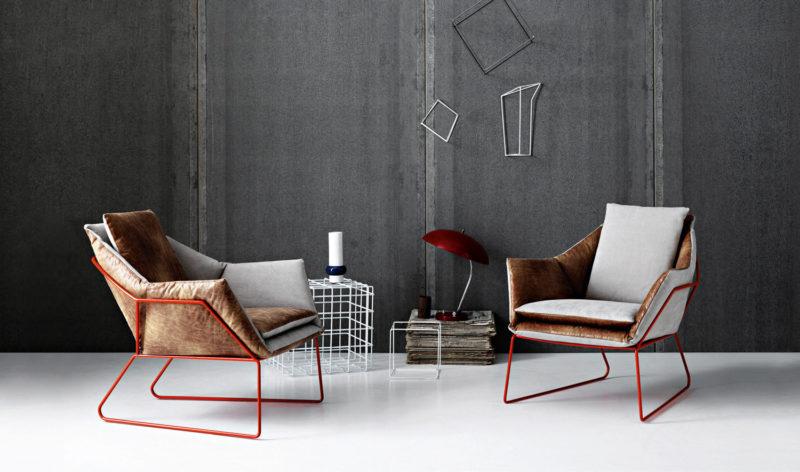 New York, kovová konstrukce, potah kombinace textil a kůže, design Sergio Bicego, Saba