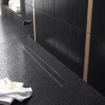Sprchové žlábky TECE je možné integrovat do dlažby aniž by bylo nutné použít silikon