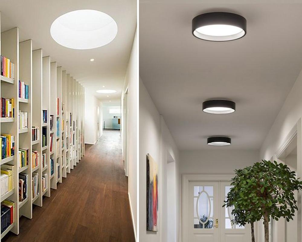 Vhodným řešením jsou jednoduchá stropní přisazená svítidla.