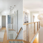 Někdy je chodba součástí schodiště, pak můžeme světla využít pro osvětlení obou částí a zároveň získáme dekorativní prvek.