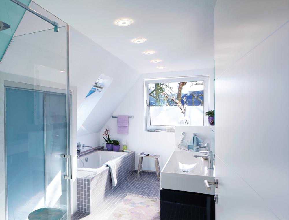 Koupelna je rozdělená na zóny určující, jaké krytí má světlo mít