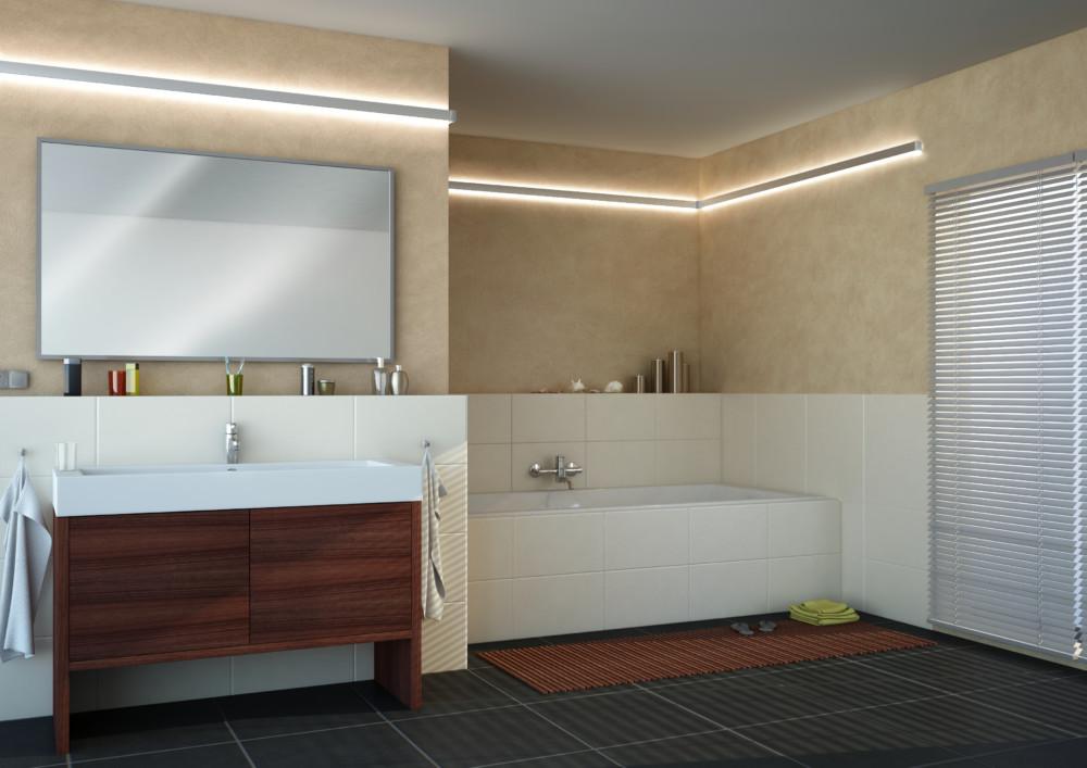 I v koupelně můžeme mít světlo jen dekorativní funkci