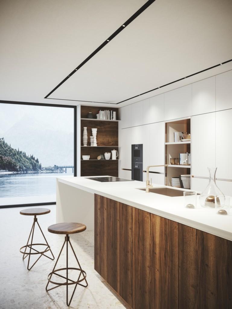 Prolicht preferuje skrytá svítidla, což umožňují stále lepší zdroje světla. Výsledkem je jednoduchý interiér.